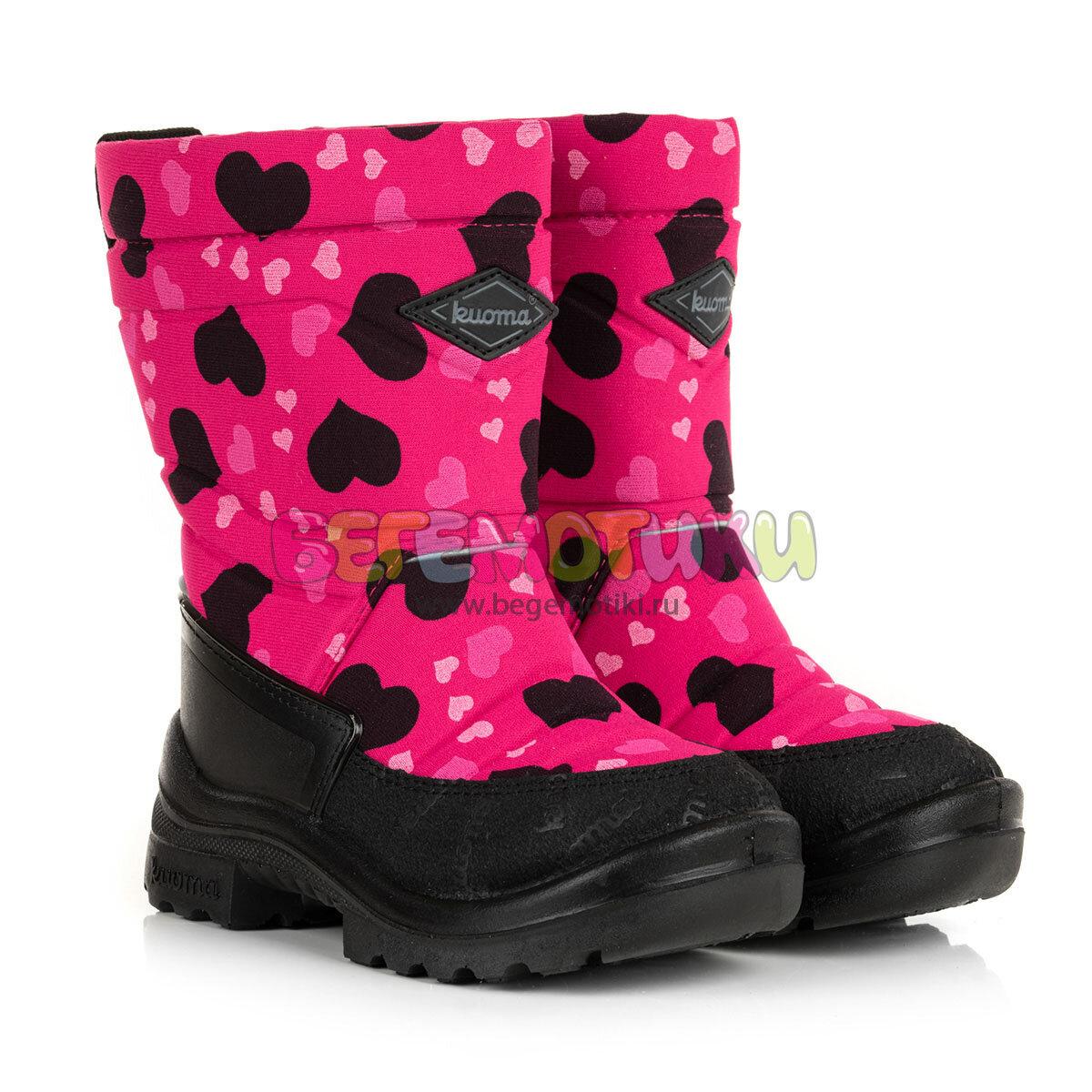 Сапоги Putkivarsi Pink Winter Heart Kuoma 1303/1203 3707