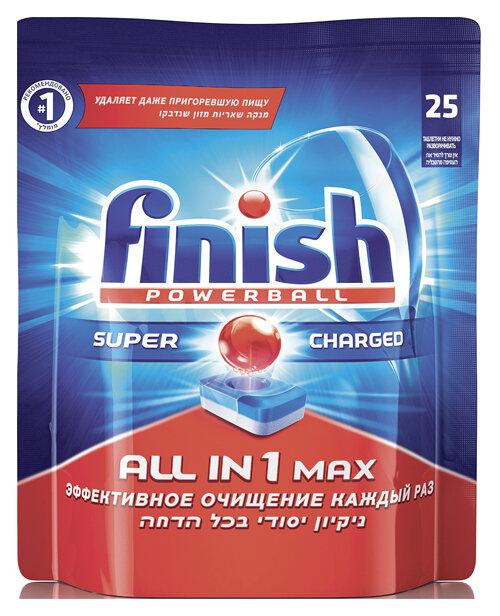 Таблетки для посудомоечных машин FINISH All in 1 в упаковке, 25шт