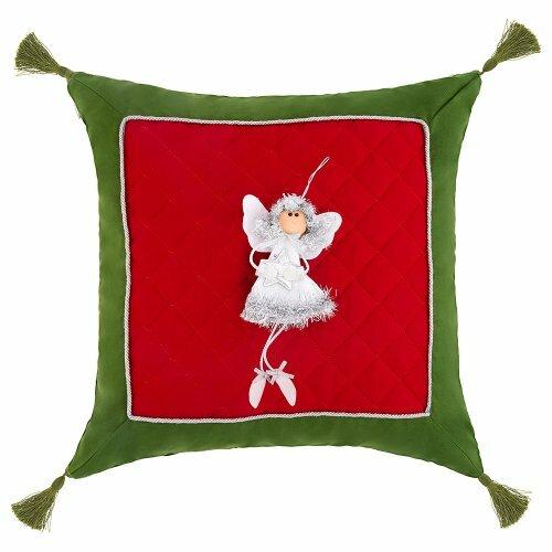 Подушка декоративная сказка ,100% хлопок,красный+зелёный - SANTALINO 850-885-63