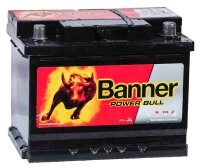 Аккумулятор автомобильный Banner Power Bull 62 А/ч 540 А обр. пол. P6219 Евро авто (242x175x190)