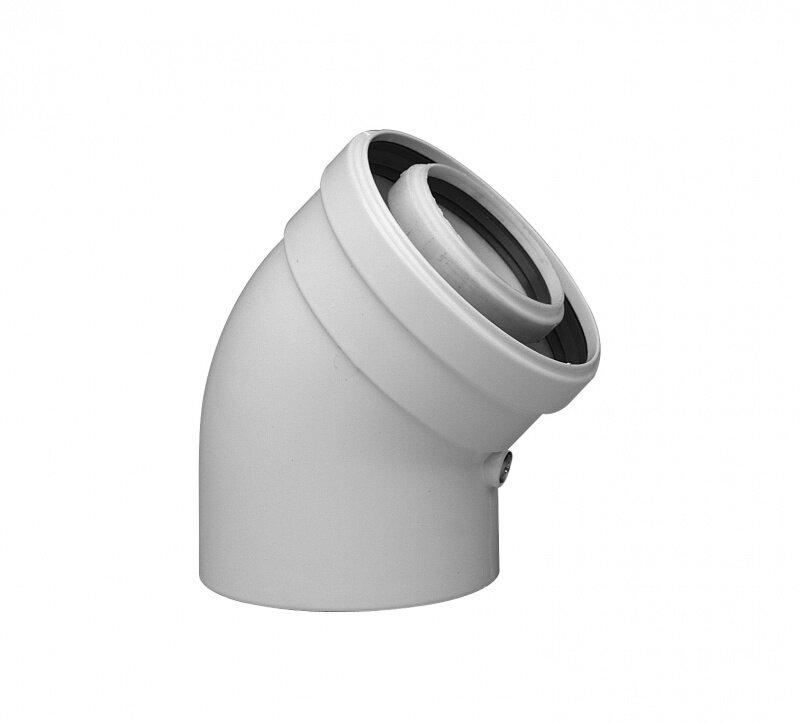 Коаксиальный отвод Baxi полипропиленовый 45 , диам. 80/125 мм, HT