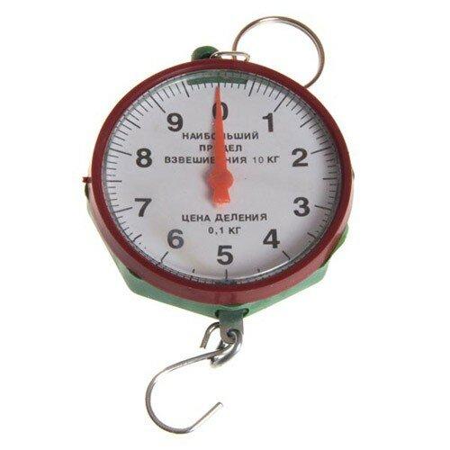 Весы-безмен бытовые круглые 10кг (вб-10) Без тм, 1511006