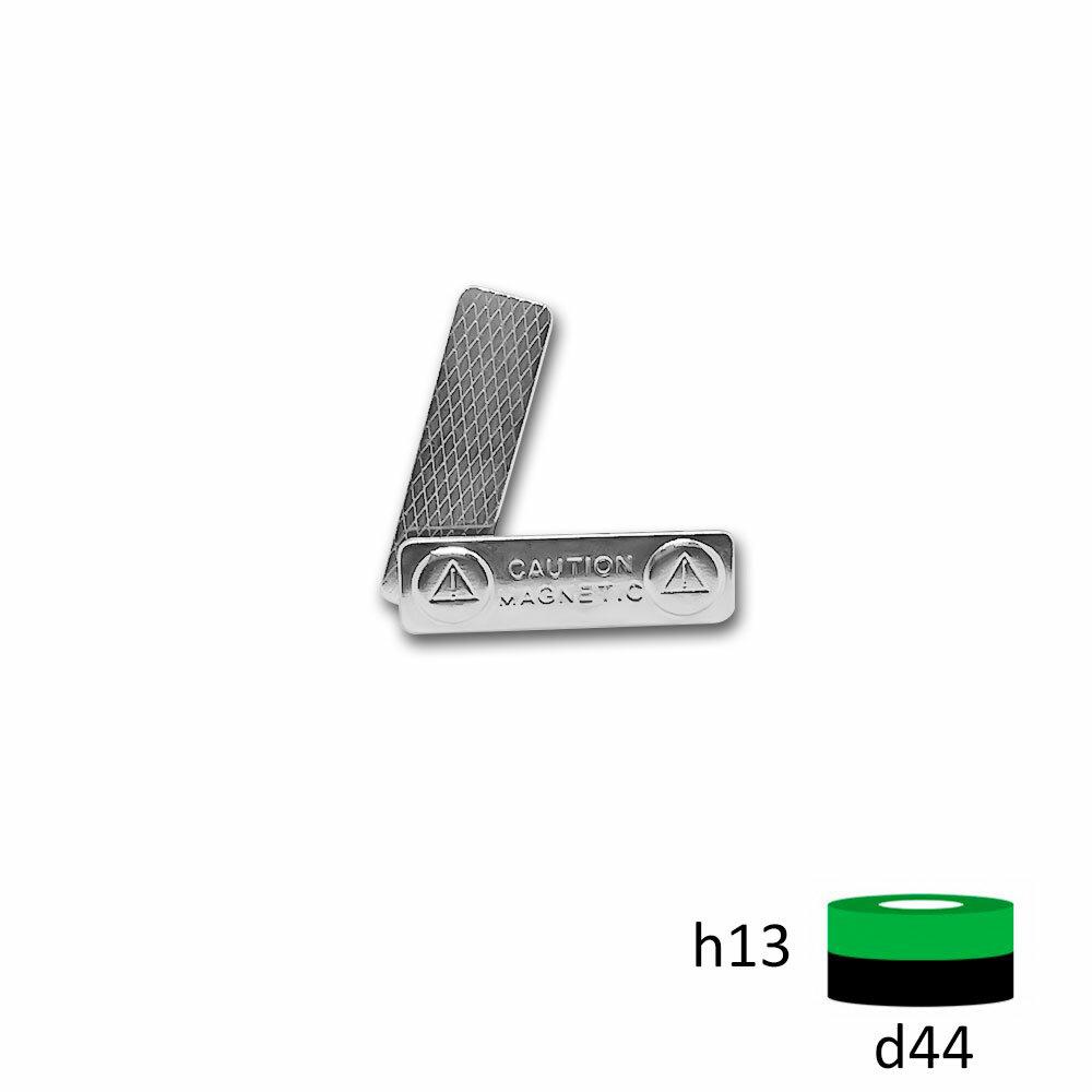 Магнитное крепление для бейджа 44х13 (металл)