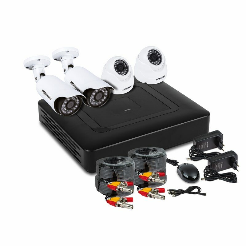 Комплект видеонаблюдения на 2 внутренние и 2 наружные камеры AHD-M (без HDD) Proconnect, 1шт