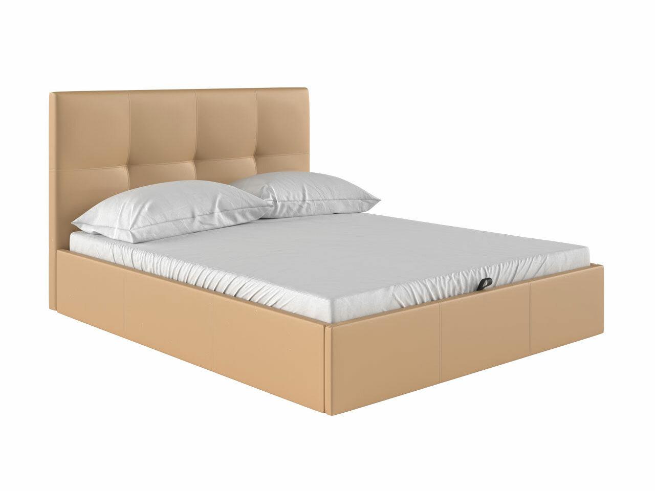 Двуспальная кровать Первый Мебельный Верда Бежевый ,160х200 см