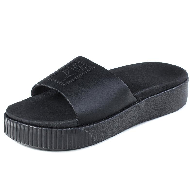 Шлепанцы PUMA 36612110 Platform Slide Wns женские , цвет черный , размер 3