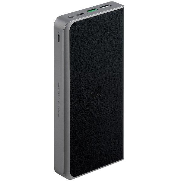 Внешний аккумулятор InterStep PB12Qi 12000mAh QC/PD БЗУ 10W TypeC + 8pin, Black