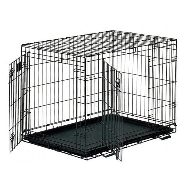 Клетка для животных MidWest Life Stage двухдверная черная 76х53х61см