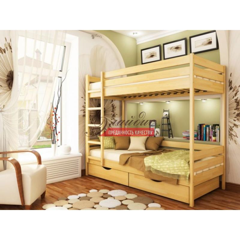 Кровать 2-Х ярусная- 1 из массива сосны