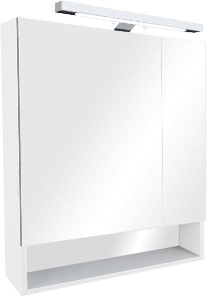 Зеркало-шкаф 70 см Roca Gap ZRU9302886 со светильником белый глянец