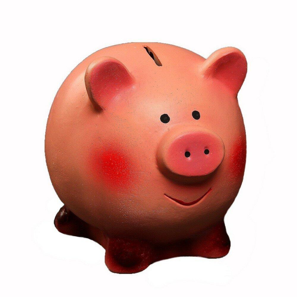 Копилка - Свинка улыбака, 16х13х14 см