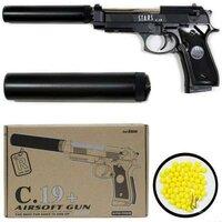 Металлический пистолет для страйкбола C19+