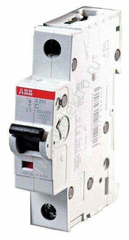 Автоматический выключатель (автомат) ABB 1-полюсной , серия S 201, характеристика С 10 Ампер