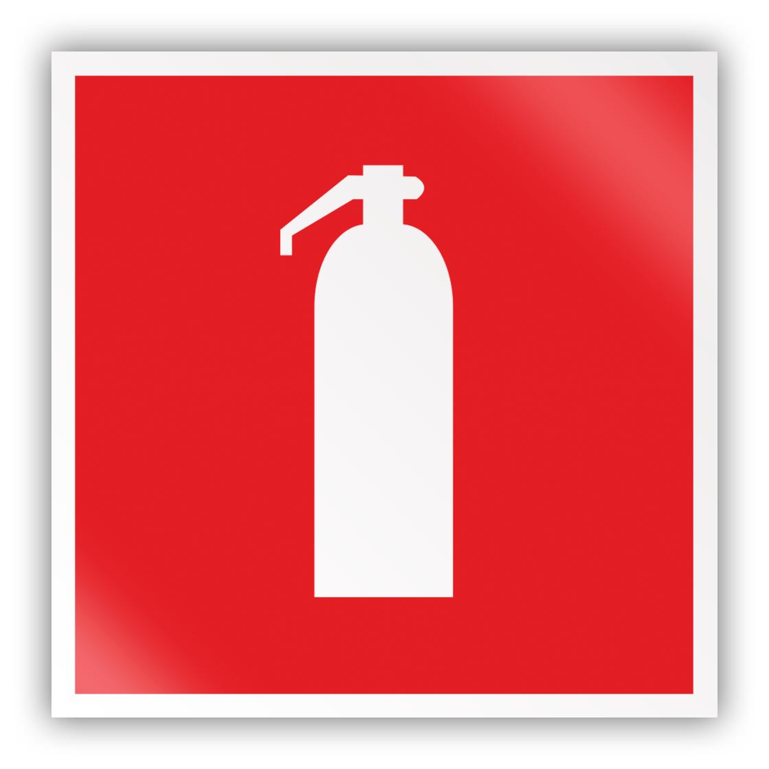 Знак на пленке F04 «Огнетушитель» (самоклеящаяся наклейка, 200х200 мм)