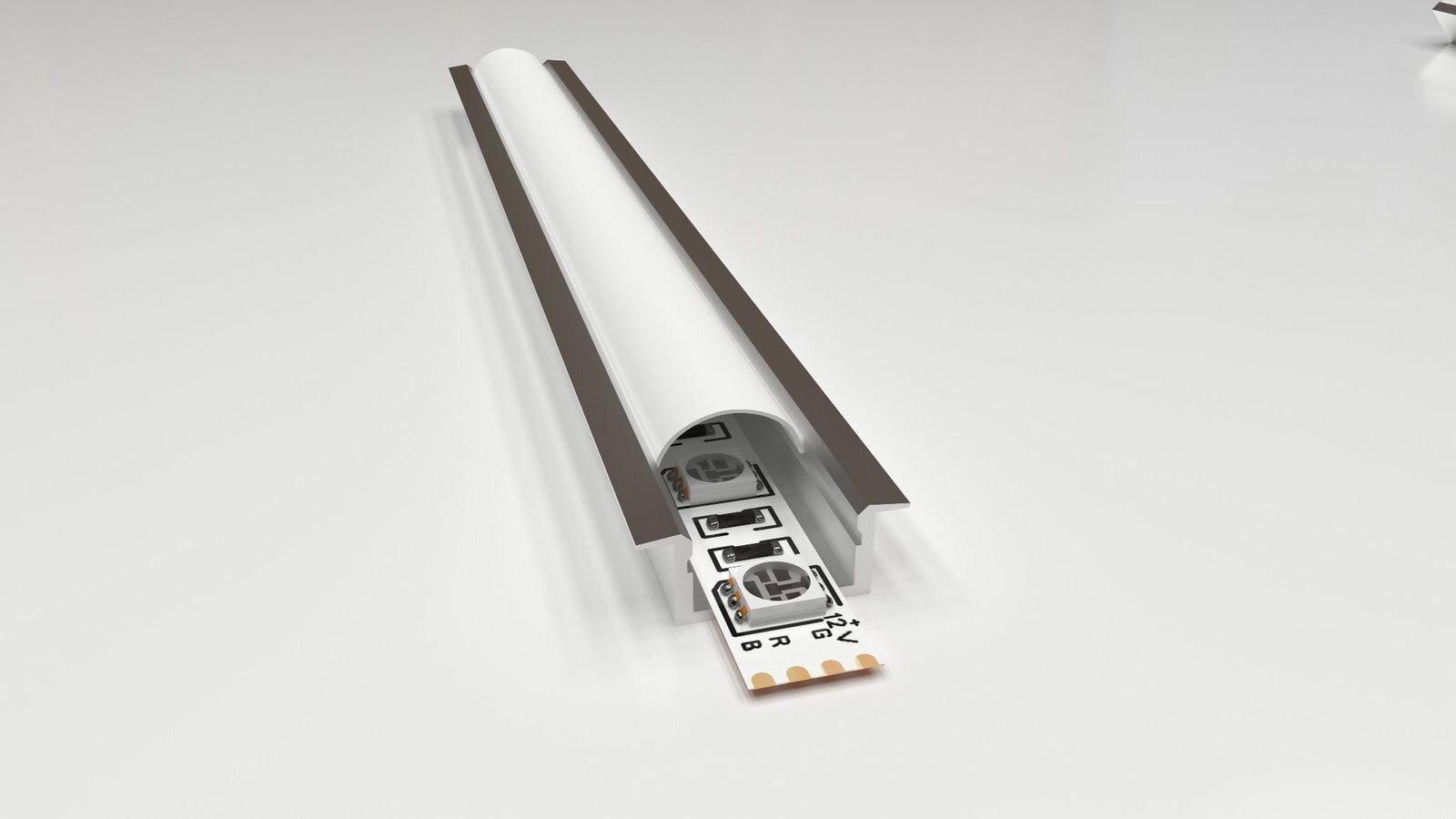 Профиль для светодиодной ленты APEYRON electrics 08-06, серебристый