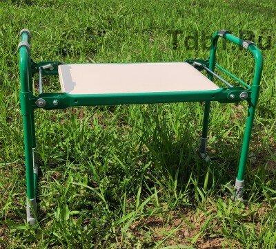 Скамейка-перевертыш мягкая садовая складная СКМ НИКА Зеленая