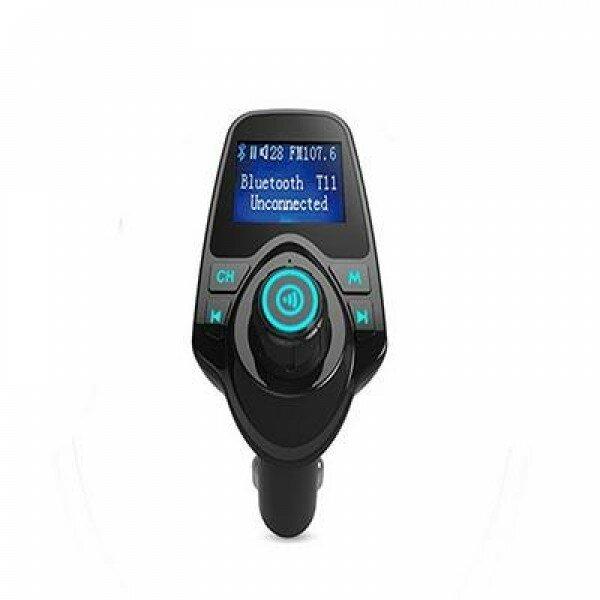 Автомобильный FM трансмиттер, модулятор Car MP3 T11 (Черный)