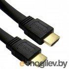 HDMI (M) -> HDMI (M), 1.0m, 5bites (APC-185-001) , V1.4b, плоский, позолоченные контакты