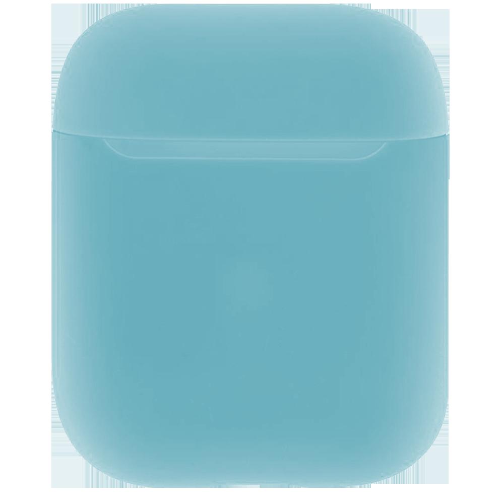 Чехол силиконовый Brosco для Apple AirPods 2 голубой
