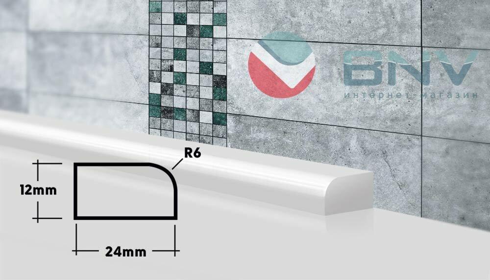 Боковая планка для ванной ПВШ24 75 см (правая)