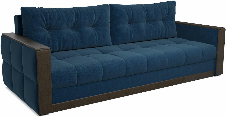 Диван еврокнижка Мебель-Арс Бостон (темно-синий - Luna 034)