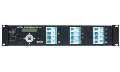 IMLIGHT PD 12-2 (RDM) Блок диммерный цифровой,12 каналов по 10А, автоматы SCHRACK, дроссели, DMX-512A, высота 2U, безвинтовые клеммы, монтаж в рэк