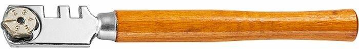 """Стеклорез """"Matrix"""", 6-роликовый, с деревянной ручкой"""