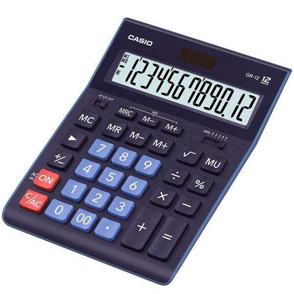 Калькулятор настольный Casio GR-12BU синий