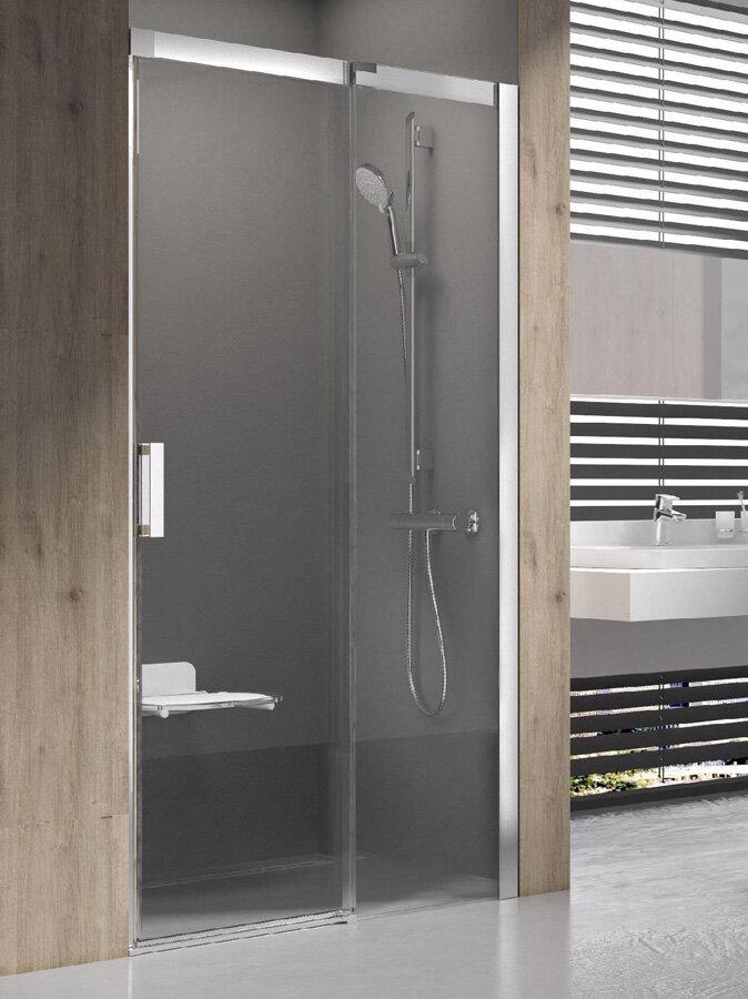 Душевая дверь Ravak Matrix MSD2-100 L сатин+транспарент