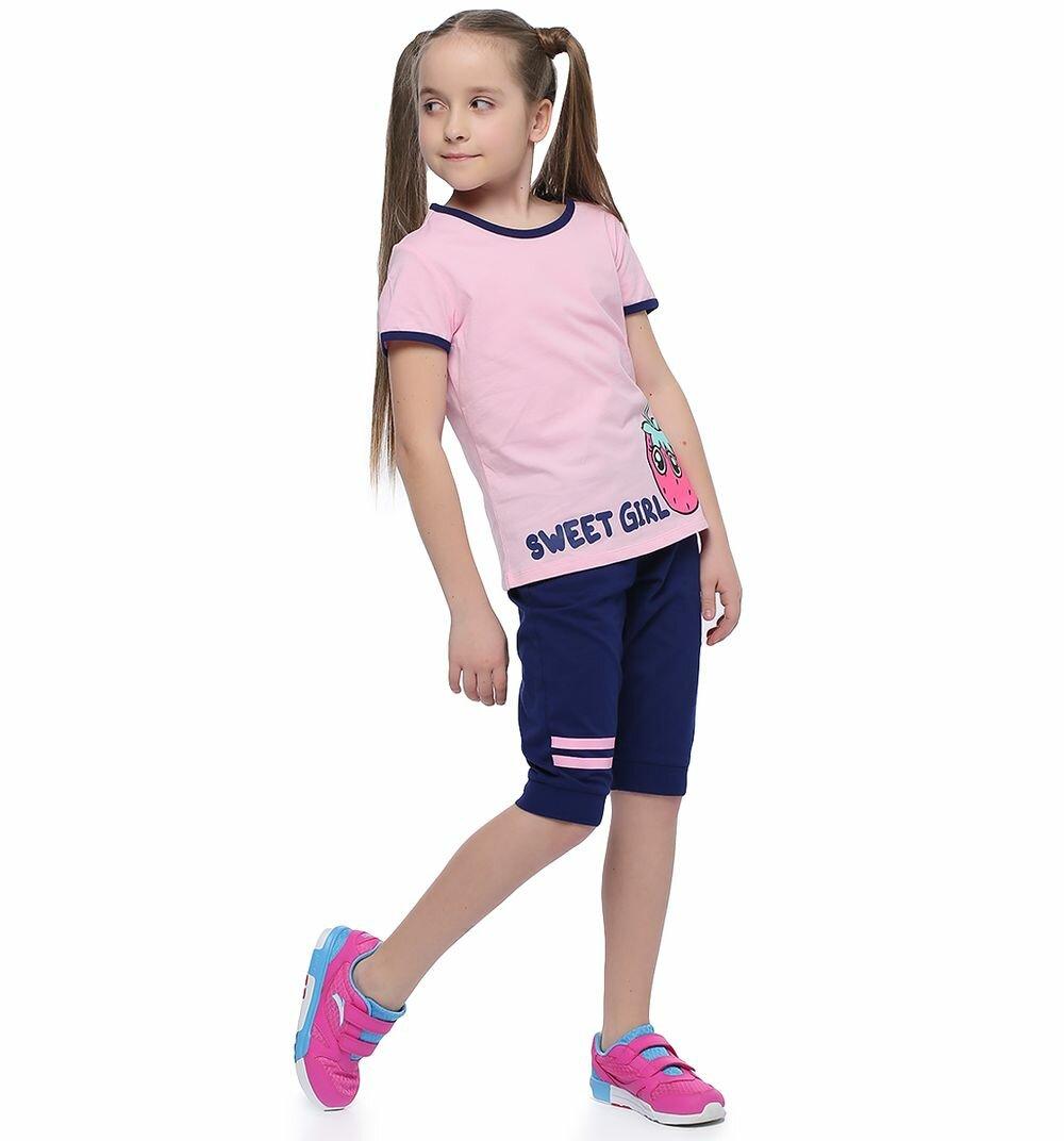 Комплект футболка/шорты Anta Small kids coldplay, для девочек, размер 116
