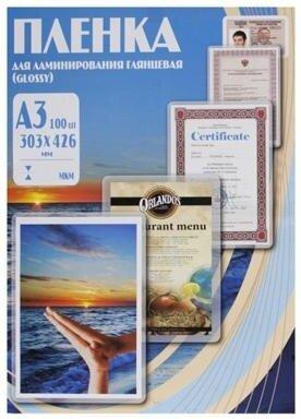 Пленка для ламинирования Office Kit 80 мкм А3 глянцевая 303х426 100 шт. (PLP10330)