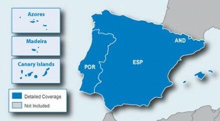 Автомобильные карты дорог Garmin City Navigator Europe NT: Spain and Portugal Карта Европы на microSDSD