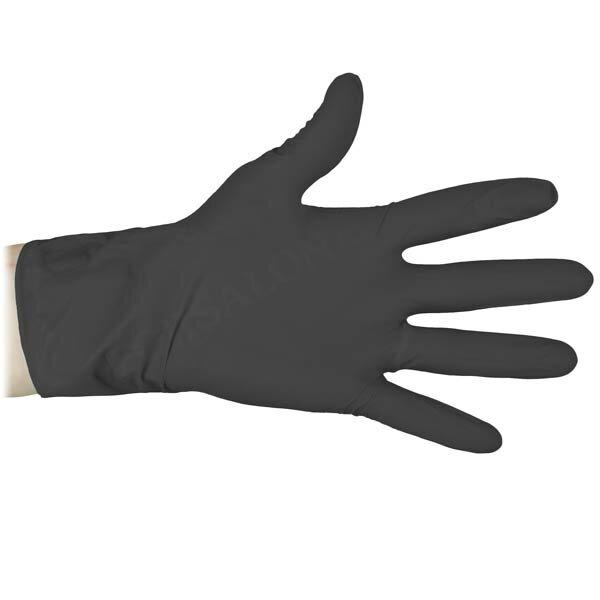Перчатки нитриловые Klever, чёрные - S. 50 пар