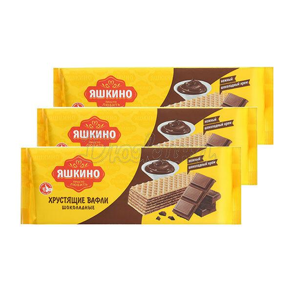 Вафли Яшкино шоколадные 300 г 3 шт