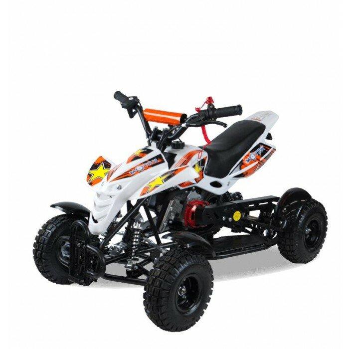 Motax Квадроцикл ATV H4 mini-50 cc Белый/Оранжевый