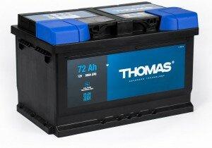 Автомобильный аккумулятор THOMAS 72RS 680А обратная полярность 72 Ач (278x175x175)