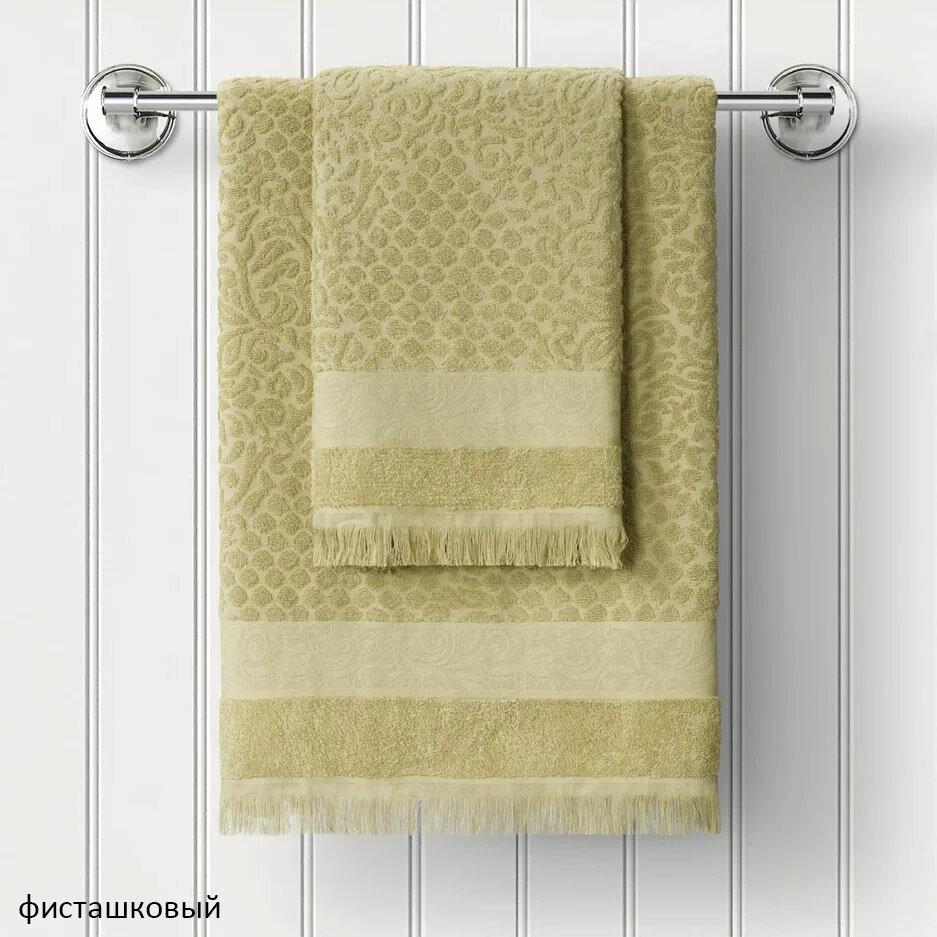 Махровое полотенце с жаккардом (1 шт)