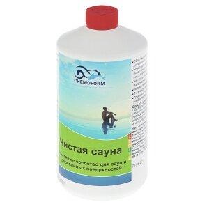 Chemoform Чистая Сауна, 1л, — чистящее средство для деревянных поверхностей в сауне, бане