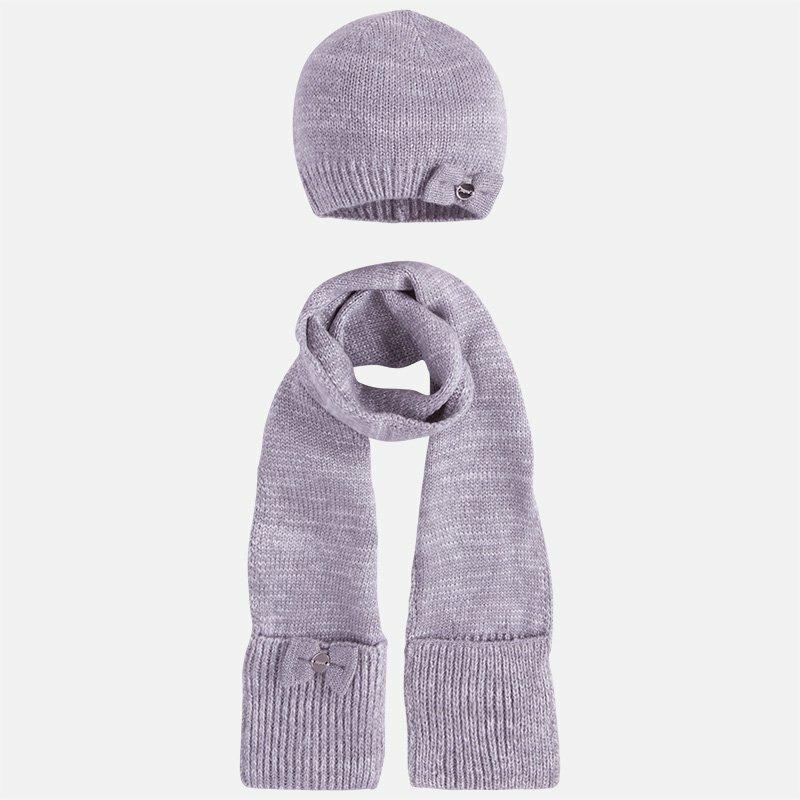 Шапки MAYORAL Комплект (шапка, шарф) серый/серебро