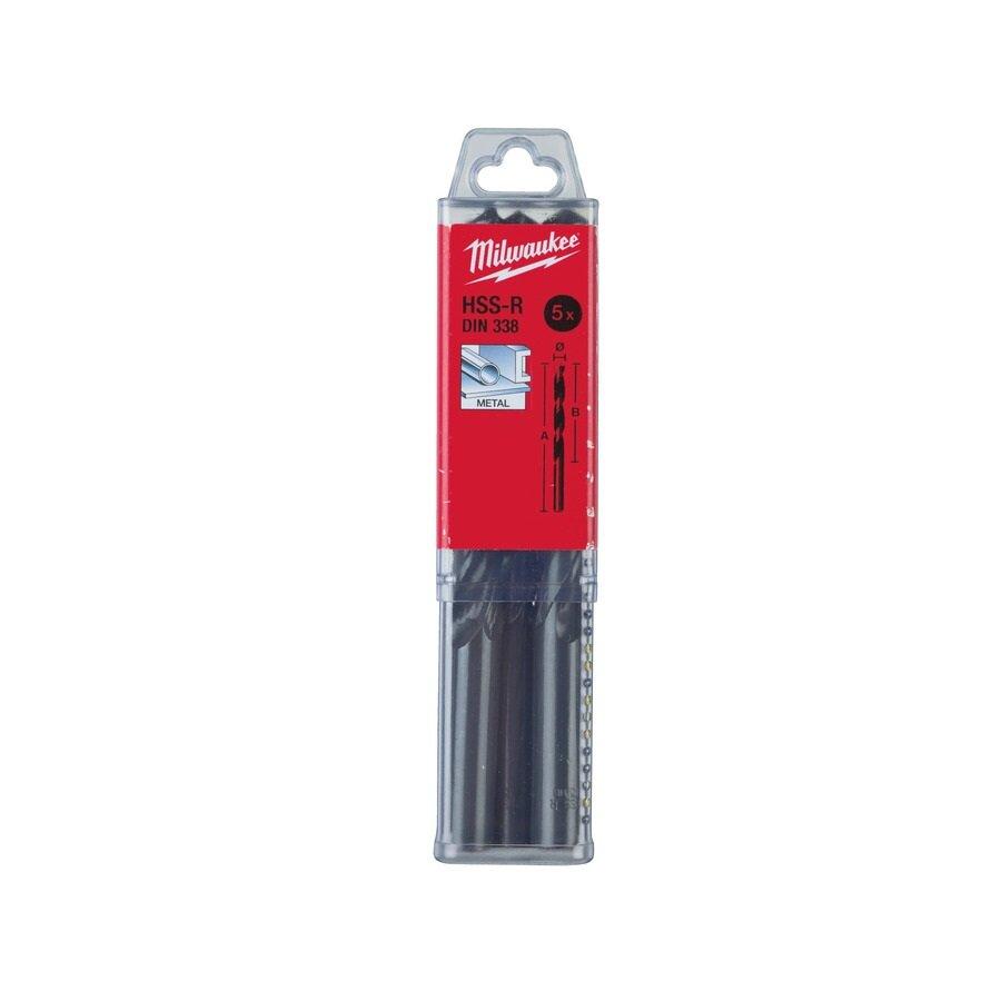 Сверло по металлу (5шт) MILWAUKEE HSS-R DIN338 11 x 142 мм