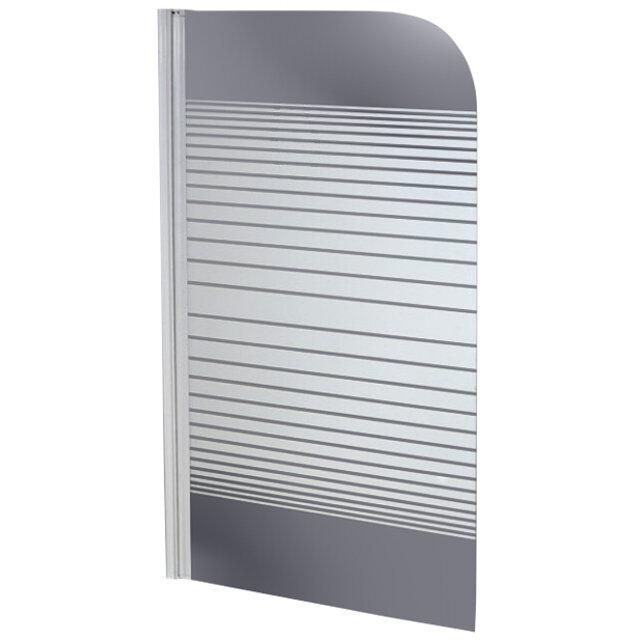 шторка д/ванны Stripe 75х140см 1 створка стекло