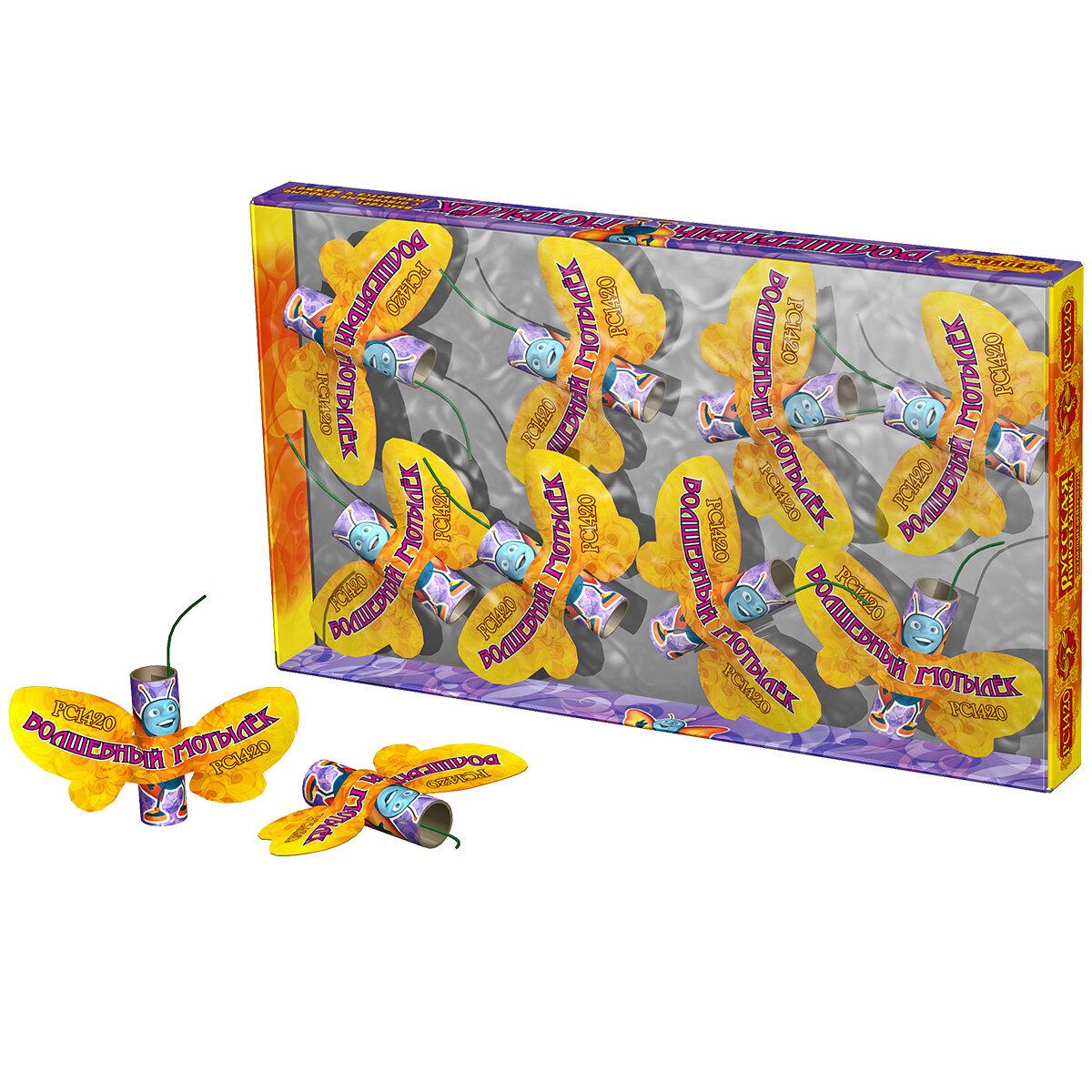 Летающий фейерверк РС142 / РС1420 Волшебный мотылек (упаковка)