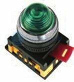 IEK Лампа AL-22 сигнальная зеленая с подсветкой неон 240В (BLS20-AL-K06)
