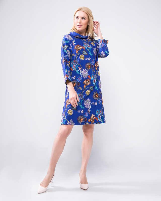 Bluebeery Платье, р. 56, цвет васильковый