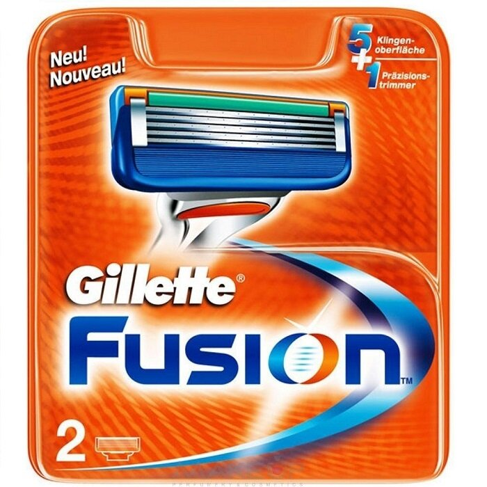 Сменные кассеты Gillette Fusion 2 шт (Gillette) 2