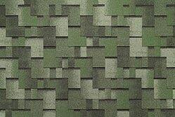 Гибкая битумная черепица Tegola Nordland Альпин зеленый с отливом