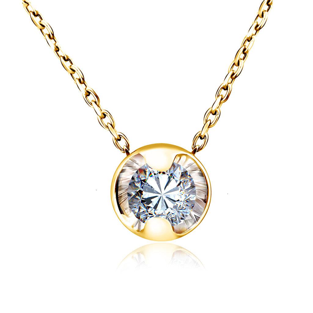 Колье из желтого золота с бриллиантом