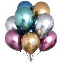 Воздушные шары Цветное ассорти-хром с гелием