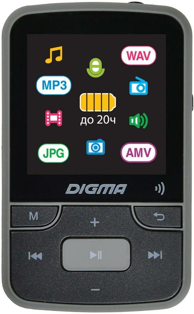 Медиаплеер Digma Z4 BT 16Gb (черный)