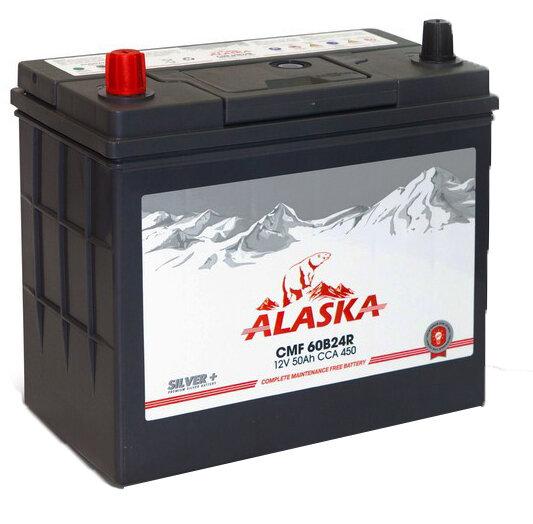 Аккумулятор автомобильный Alaska CMF 50R 60B24R silver+ 6СТ-50 прям. 50Ач пр.